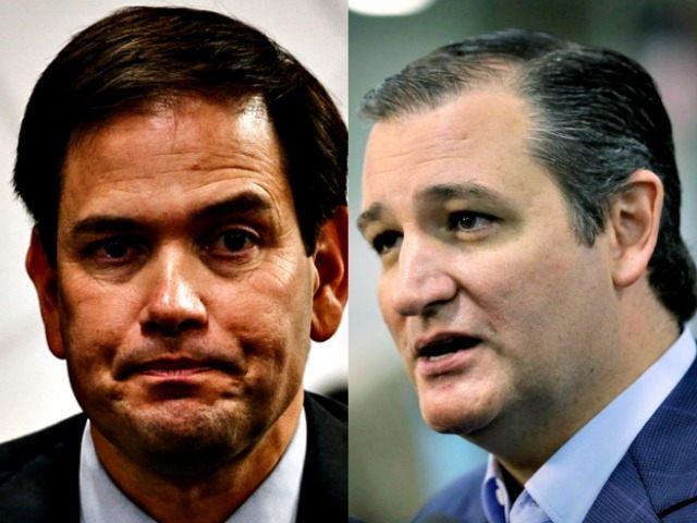 Ted Cruz (R) and Marco Rubio AP Photos