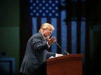 Republican presidential candidate Donald Trump speaks during the Sunshine Summit conference being held at the Rosen Shingle Creek on November 13, 2015 in Orlando, Florida. The summit brought Republican presidential candidates in front of the Republican voters. (Photo by)
