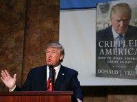 Republican presidential candidate Donald Trump speaks at a news conference before a public signing for his new book 'Crippled America: How to Make America Great Again,' at the Trump Tower Atrium on November 3, 2015 in New York City. According to a new poll, Ben Carson, the retired neurosurgeon, has …