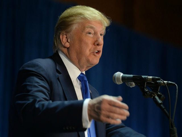 Republican Presidential candidate Donald Trump speaks at 'Politics And Eggs' at the Radisson Hotel, on November 11, 2015 in Manchester, New Hampshire. Coming off the fourth debate Trump continues to run strong in the polls.