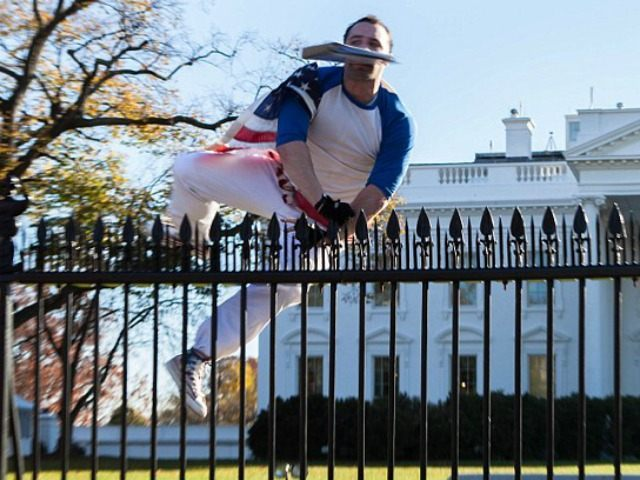 White House Lockdown after Man Draped in American Flag Scales Fence