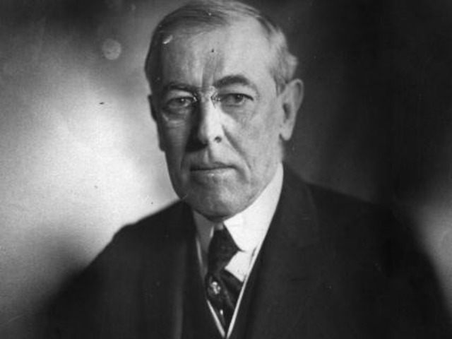The 28th President of the United States Woodrow Wilson (1856 - 1924). (Photo by )