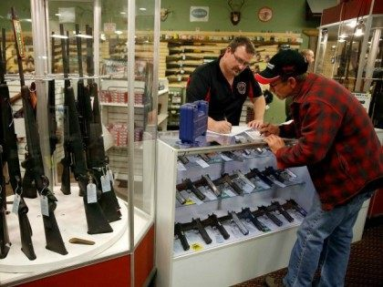 Gun Buyer Fills Out Background Check