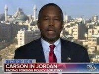 Carson: 'The Syrians Want to Be in Syria'