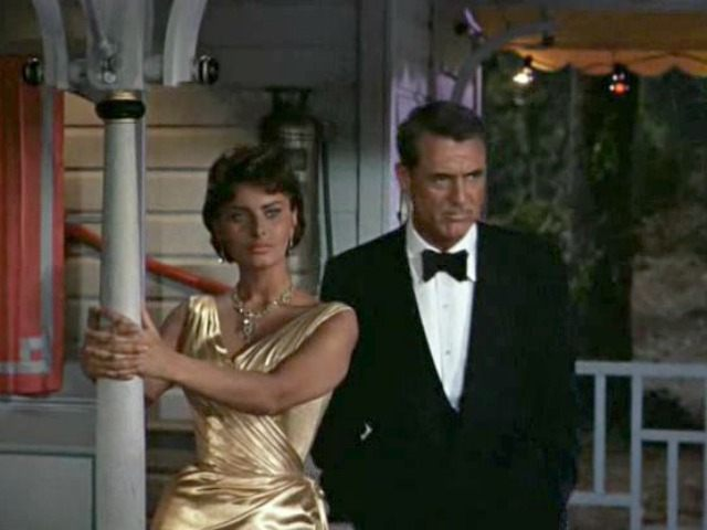 "Sophia Loren and Carey Grant in ""Houseboat"" (1958)."