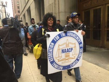 Video: Angry Black Protester Splits NAACP Event in Chicago, Ten Arrested
