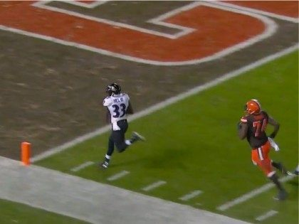 Watch: Ravens Beat Browns on Blocked FG Returned for Touchdown With No Time Left on Clock