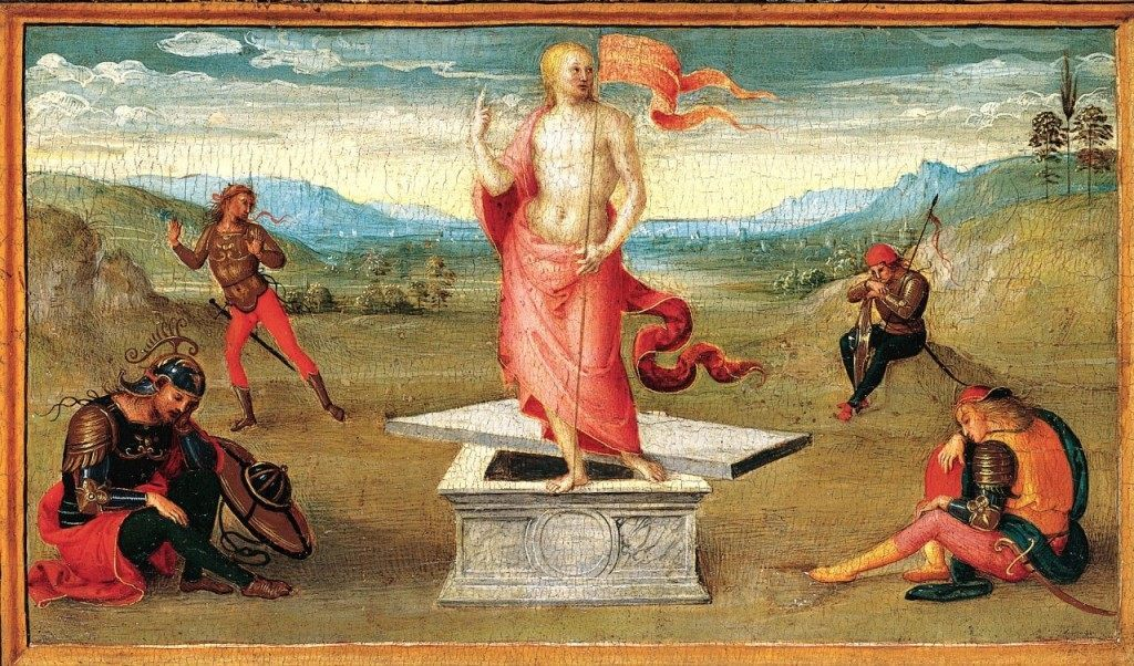 """The Resurrection"" by Perugino,  Metropolitan Museum of Art"