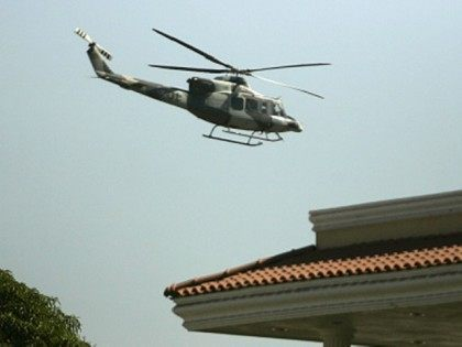 drug traffickers fired upon military helicopters