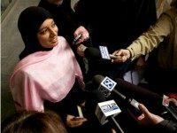 Saba Ahmed, a friend of the family of Mohamed Osman Mohamud, speaks to the media after Mohamed Osman Mohamud appeared in court on November 29, 2010 in Portland, Oregon. Mohamud, a Somali-born teenager, was arrested and charged with attempted use of a weapon of mass destruction when he allegedly attempted …