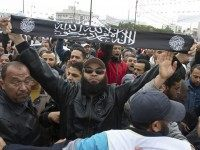 Al Qaeda banner Tunisia (Amine Landoulsi / Associated Press)