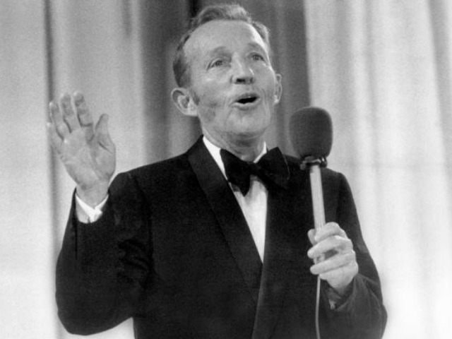 Bing Crosby performs at the Momarkedet opening show with his orchestra in Oslo 30 August 1977. AFP