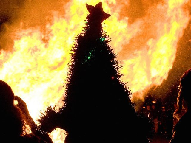 Christmas tree fire (Orin Zebest / Flickr / CC / Cropped)