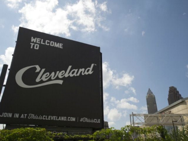 A view of downtown Cleveland, which has been chosen for the 2016 Republican National Convention, on July 8, 2014 in Clevland, Ohio. The 2016 event will be held at the Quicken Loans Arena. (Photo by