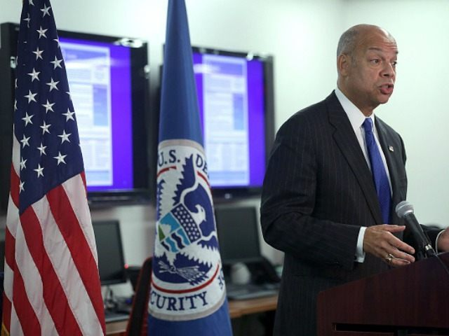 U.S. Secretary of Homeland Security Jeh Johnson speaks to members of the media at the National Response Coordination Center at FEMA Headquarters December 16, 2015 in Washington, DC. Secretary Johnson spoke on updates to the National Terrorism Advisory System (NTAS). (Photo by