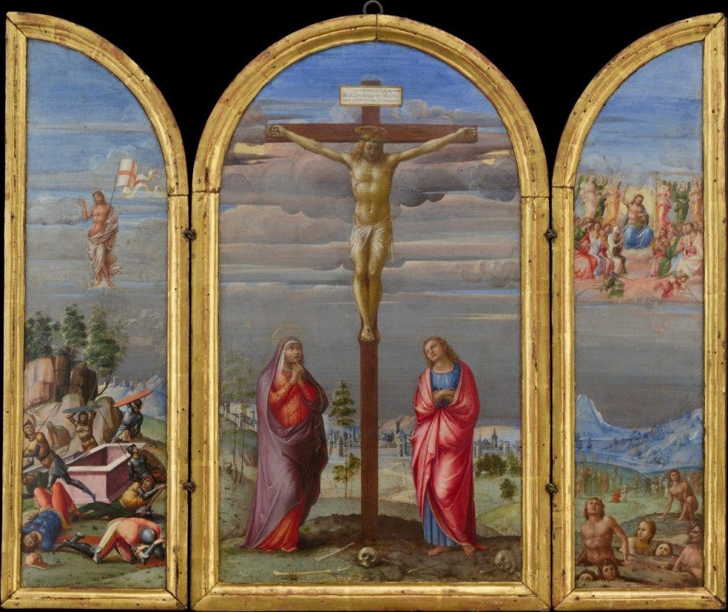 """The Crucifixion"" by Francesco Granacci, Metropolitan Museum of Art"