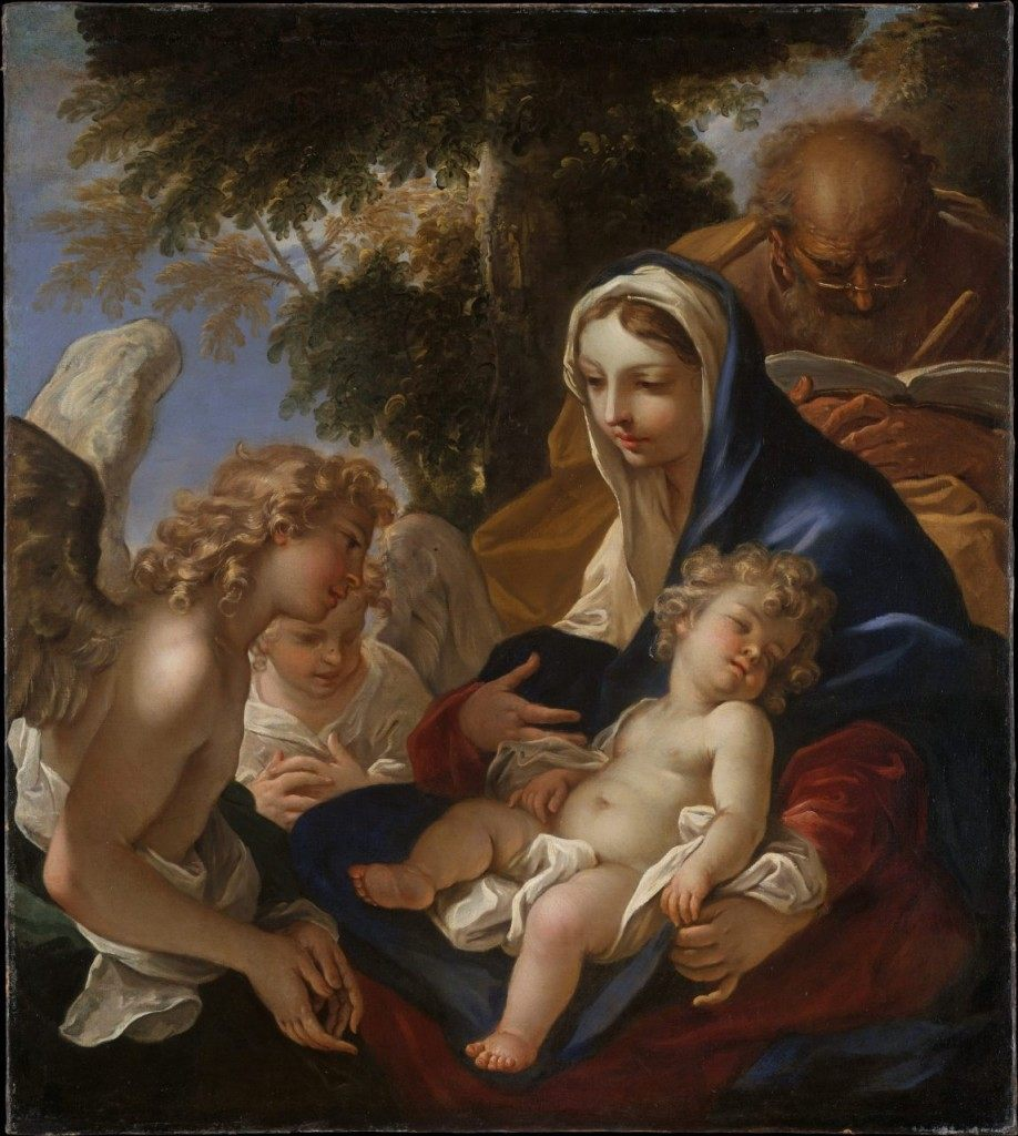 """The Holy Family with Angels"" by Sebastiano Ricci, Metropolitan Museum of Art"