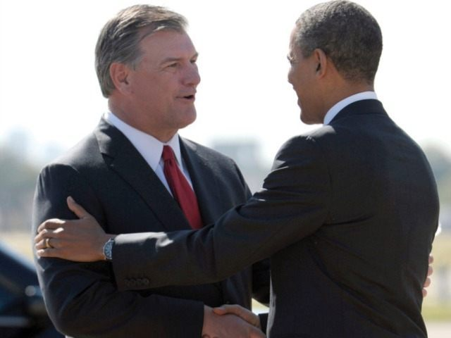 Dallas Mayor Mike Rawlings with Obama