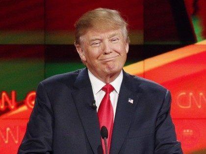 Donald Trump at CNN GOP Debate (John Locher / Associated Press)