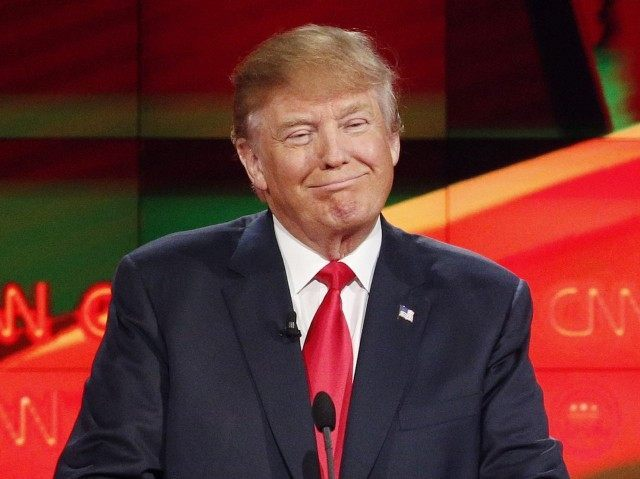 Donald Trump at CNN GOP Debate (John Locher / Associated Press)