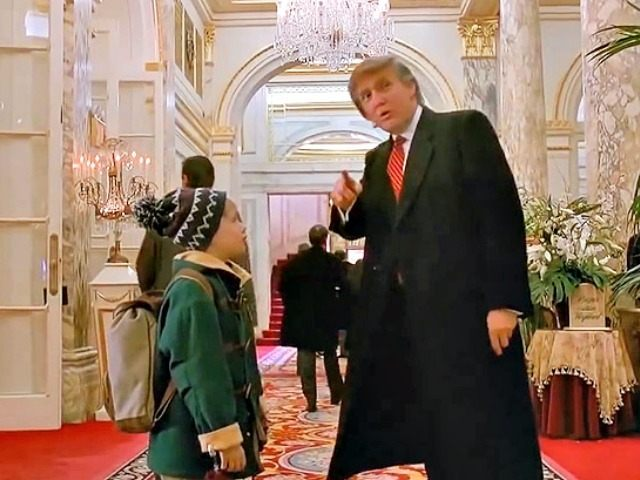 asks young actor macaulay culkin in the movie home alone 2 as he enters the historic plaza hotel gazing at the beautiful chandelier and the christmas - Home Alone Christmas Movie