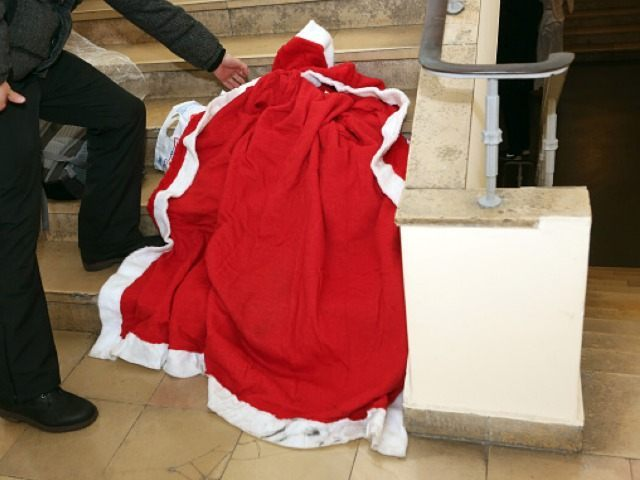 Empty Santa Claus Suit