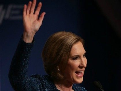 Republican presidential candidate Carly Fiorina addresses the Republican Jewish Coalition at Ronald Reagan Building and International Trade Center December 3, 2015 in Washington, DC. Candidates spoke and took questions from Jewish leaders and activists as they continued to seek the Republican presidential nomination. (Photo by