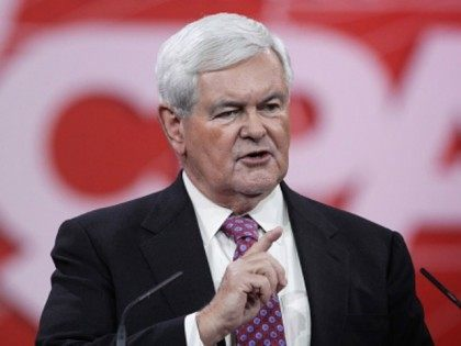 Former U.S. Speaker of the House Newt Gingrich (R-GA) addresses the 42nd annual Conservative Political Action Conference (CPAC) February 27, 2015 in National Harbor, Maryland. Conservative activists attended the annual political conference to discuss their agenda. (Photo by)