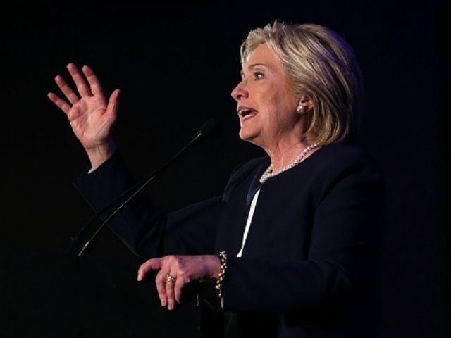 Democratic presidential candidate Hillary Clinton speaks during a 'Women for Hillary' fundraiser November 30, 2015 in Washington, DC. All 14 Democratic women senators, except Sen. Elizabeth Warren (D-MA) have endorsed Hillary Clinton to run for the President of the U.S.