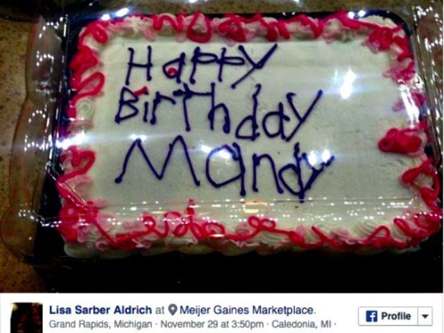 Happy Birthdy Mandy cake Facebook Lisa Sander Aldrich
