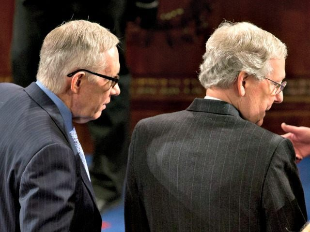 Harry Reid and Mitch McConnell AP