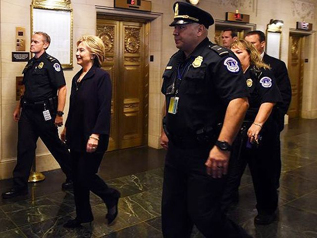 Hillary-Clinton-Police-Escort-Getty