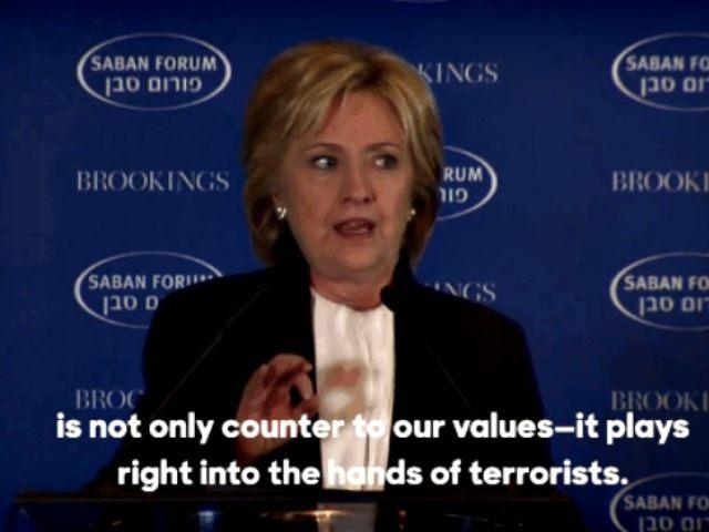 Hillary at Saban Forum screenshot