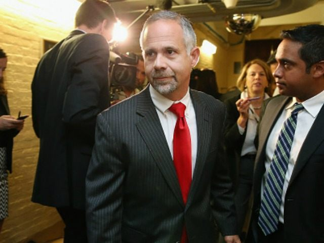 Rep. Tim Huelskamp (R-KS) (C) leaves a House Republican caucus meeting in the U.S. Capitol October 21, 2015 in Washington, DC. A member of the far-right House Freedom Caucus, Huelskamp said that House Ways and Means Committee Chairman Paul Ryan is asking for 'more power and less responsibility' in his …