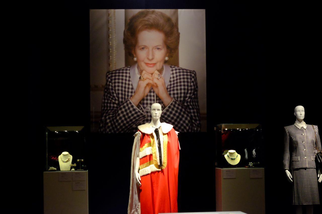 Baroness Thatcher's ermine peer's robe. (Rachel Megawhat/Breitbart London)