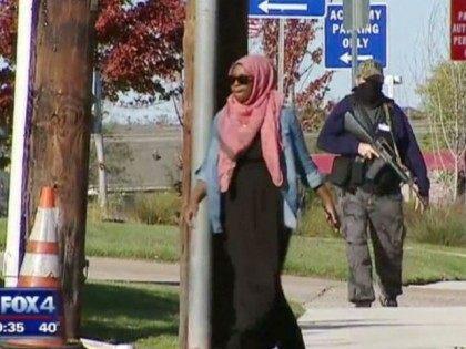 Irving protest - fox 4 video screenshot