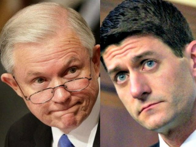 Jeff Sessions (L) Paul Ryan (AP)