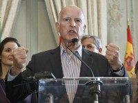 Jerry Brown UN Climate Paris (Michel Euler / Associated Press)