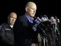 Jerry Brown at San Bernardino (Chris Carlson / Associated Press)