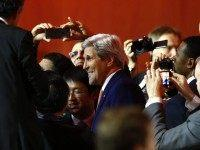 John Kerry at climate change talks (Francois Mori / Associated Press)