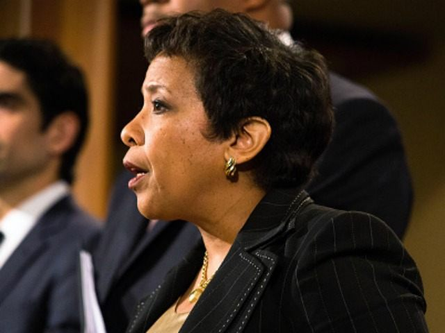 United States Attorney General Loretta E. Lynch holds a press conference. December 3, 2015.