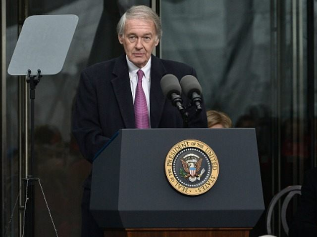 United States Senator Edward Markey speaks at the Dedication Ceremony at the Edward M. Kennedy Institute for the United States Senate on March 30, 2015 in Boston, Massachusetts. (Photo by Paul Marotta/Getty Images)