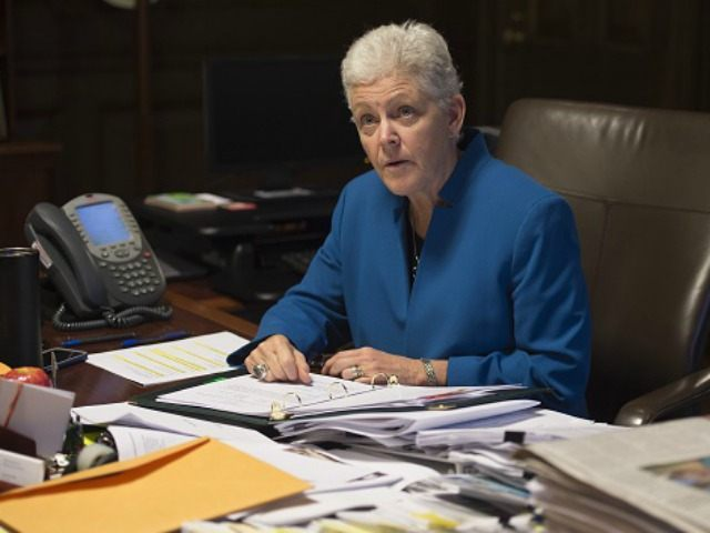 Environmental Protection Agency (EPA) Administrator Gina McCarthy speaks during an interview in her office at EPA Headquarters in Washington, DC, November 10, 2015As Barack Obama's political foes vow to shred his environmental reforms and foreign allies worry US commitments at Paris climate talks could unravel, EPA administrator Gina McCarthy told …