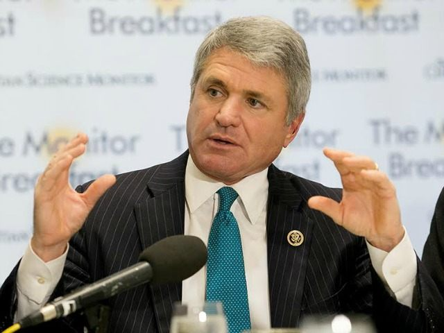Rep. Michael McCaul speaks during a breakfast in Washington, D.C. on Dec. 9, 2015.