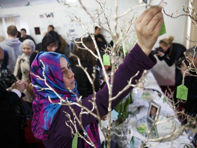 Muslim vigil (Patrick T. Fallon / AFP / Getty)