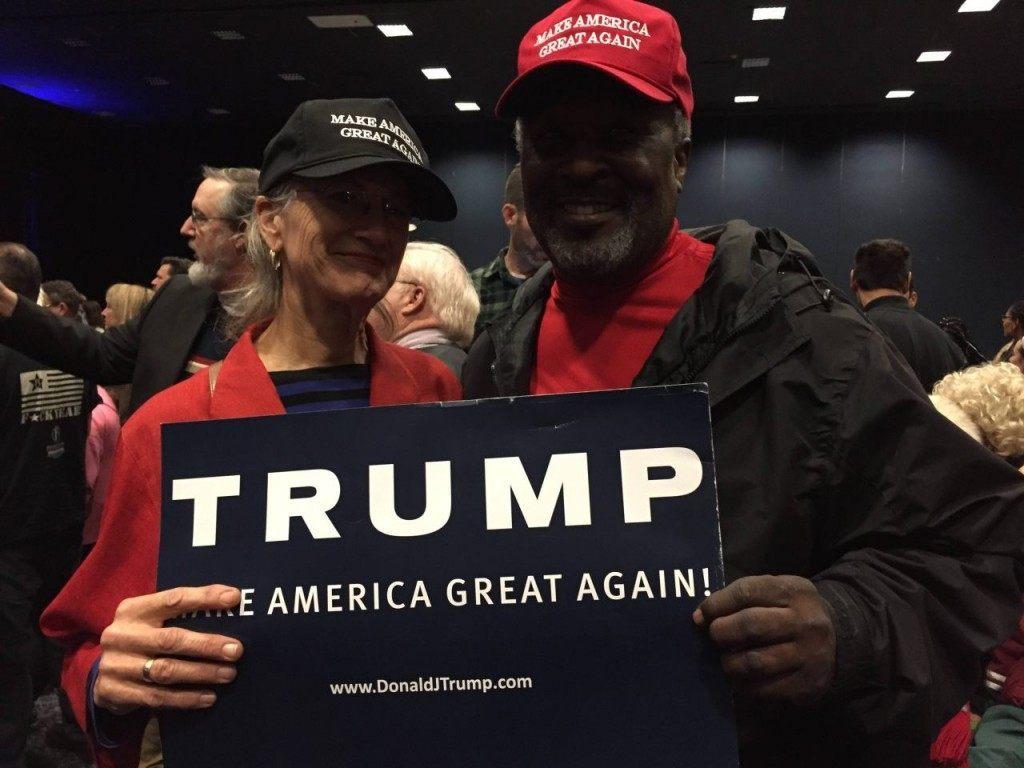 Nancy and Dennis Williams at Trump rally (Joel Pollak / Breitbart News)