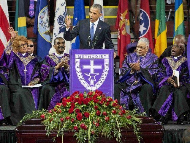 Obama Charleston funeral (David Goldman / Associated Press)