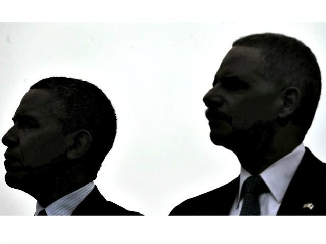 Obama and Holder sillouette AP