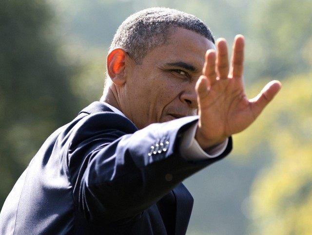 Obama evil hand (Carolyn Kaster / Associated Press)