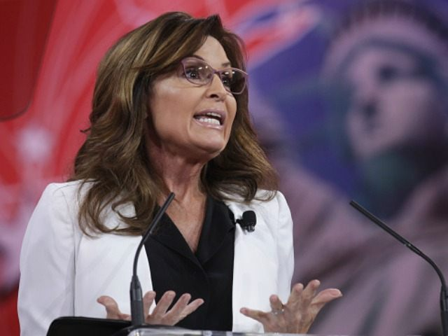 Former Alaska Governor Sarah Palin addresses the 42nd annual Conservative Political Action Conference (CPAC) February 26, 2015 in National Harbor, Maryland. Conservative activists attended the annual political conference to discuss their agenda. (Photo by s)